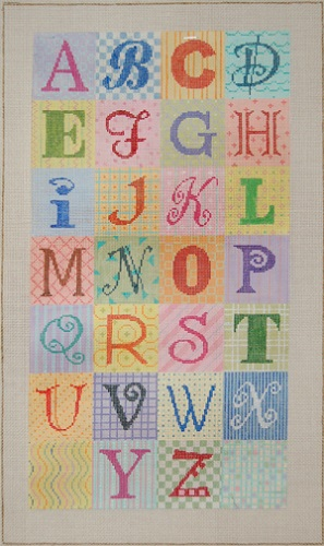 click here to view larger image of Alphabet  (hand painted canvases)