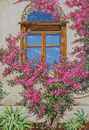 click here to view larger image of Bougainvillea (hand painted canvases)