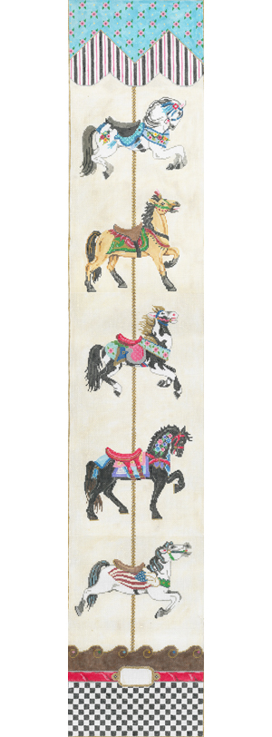 click here to view larger image of Carousel Bell Pull (hand painted canvases)