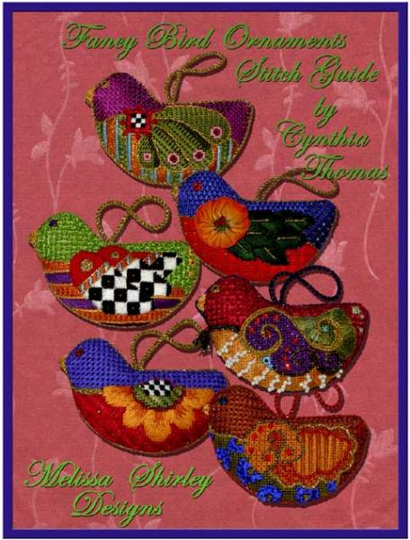 click here to view larger image of Fancy Bird Ornament Stitch Guide (books)