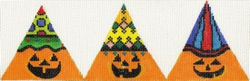 click here to view larger image of 3D Pumpkins Triangles (hand painted canvases)