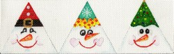 click here to view larger image of 3D Happy Snowman Triangle (hand painted canvases)