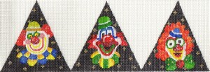 click here to view larger image of 3D Triangle Clowns (hand painted canvases)