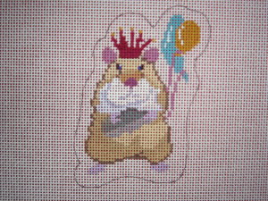 click here to view larger image of Party Hearty Hamster (hand painted canvases)