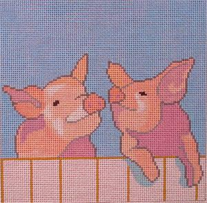click here to view larger image of Trevor and Bertie (hand painted canvases)