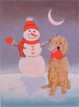 click here to view larger image of Poodle Winter Wonderland (hand painted canvases)
