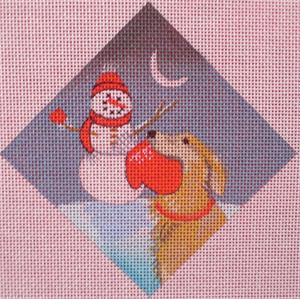 click here to view larger image of Golden Retriever Ornament (hand painted canvases)
