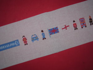 click here to view larger image of London Belt (hand painted canvases)