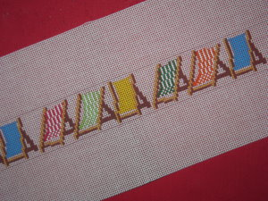 click here to view larger image of Beach Chair Belt (hand painted canvases)