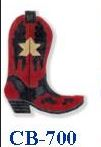 click here to view larger image of Red Boot With Star (hand painted canvases)