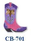 click here to view larger image of Purple Boot With Horse (hand painted canvases)