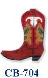 click here to view larger image of Red  Boot With Skull (hand painted canvases)