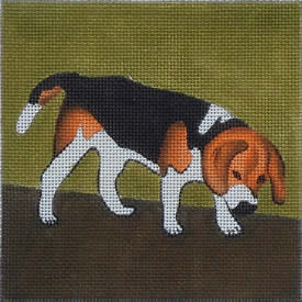 click here to view larger image of Beagle (hand painted canvases)