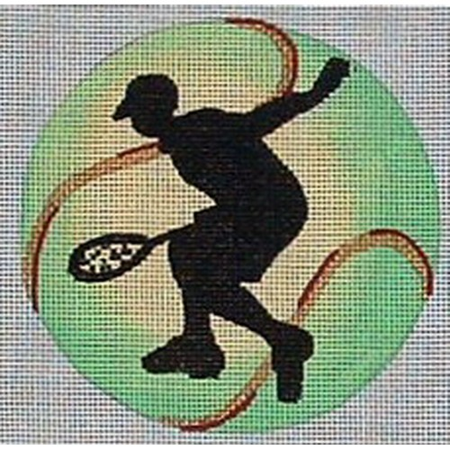 click here to view larger image of Male Tennis Player Ornament (hand painted canvases)
