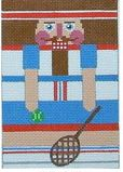 click here to view larger image of Tennis Nutcracker (hand painted canvases)