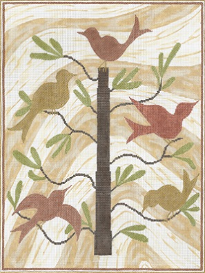 click here to view larger image of Birds Of A Feather (hand painted canvases)