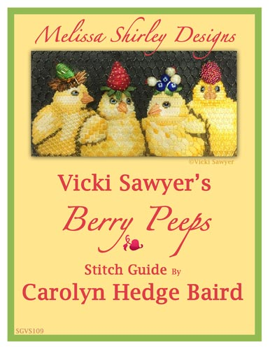 click here to view larger image of Berry Peeps Stitch Guide (books)