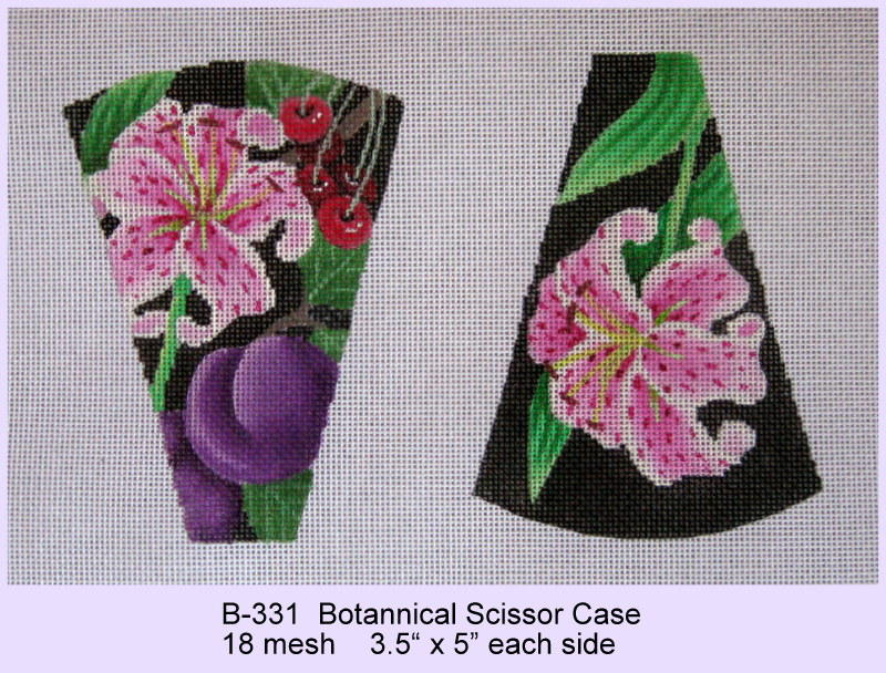 click here to view larger image of Botannical Scissor Case (hand painted canvases)
