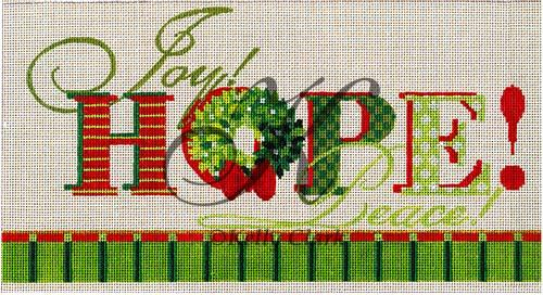 click here to view larger image of Hope Joy Peace Stitch Guide (books)