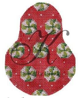 click here to view larger image of Wintergreens on Red Anjou Stitch Guide (books)