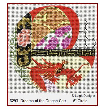 click here to view larger image of Dreams of the Dragon Coaster (hand painted canvases)