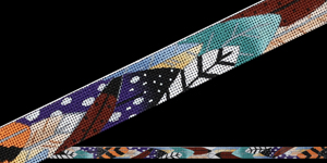 click here to view larger image of Feather Belt (hand painted canvases)