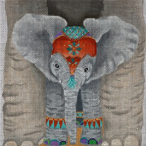 click here to view larger image of Baby Elephants View (hand painted canvases)