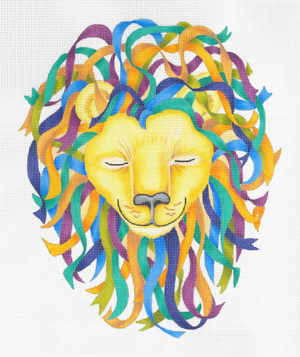 click here to view larger image of Cool King Lion (hand painted canvases)