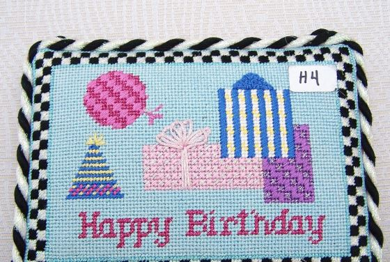 click here to view larger image of Happy Birthday (hand painted canvases)