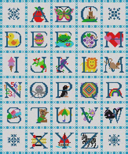 click here to view larger image of Child's Alphabet (hand painted canvases)