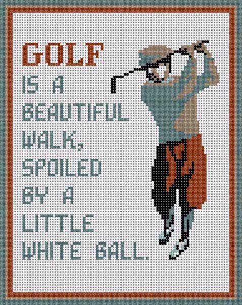 click here to view larger image of Golf (hand painted canvases)