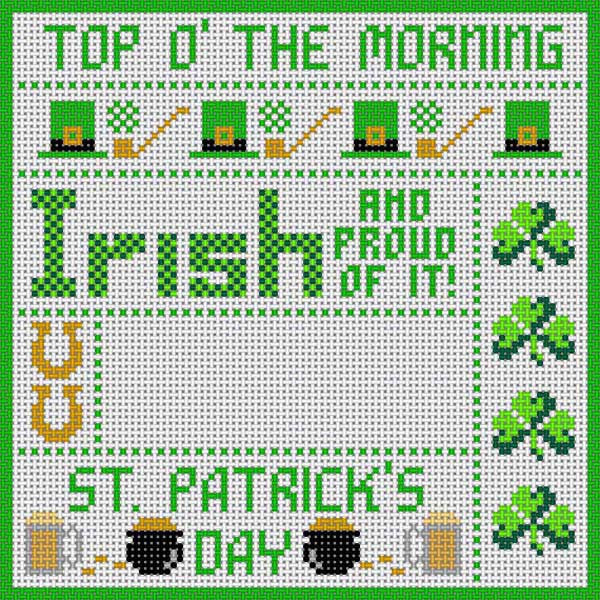 click here to view larger image of ST Patrick's Day (hand painted canvases)
