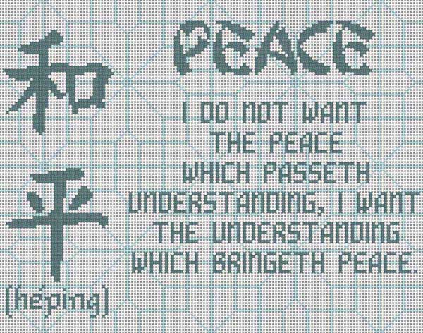 click here to view larger image of Peace (hand painted canvases)