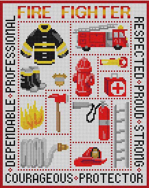 click here to view larger image of Fire Fighter (hand painted canvases)