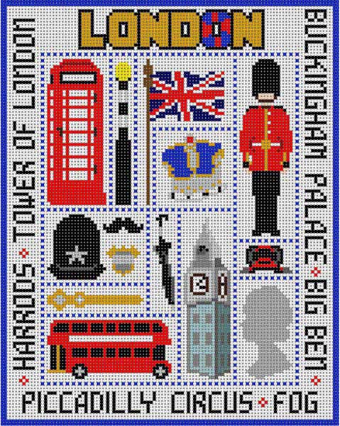 click here to view larger image of London Sampler (hand painted canvases)