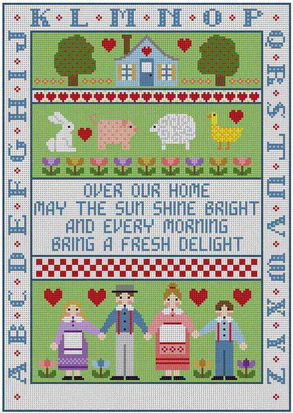 click here to view larger image of Family Sampler (hand painted canvases)