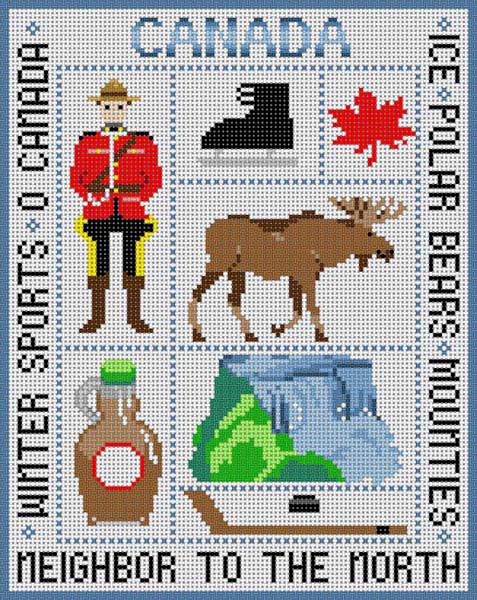 click here to view larger image of Canada (hand painted canvases)