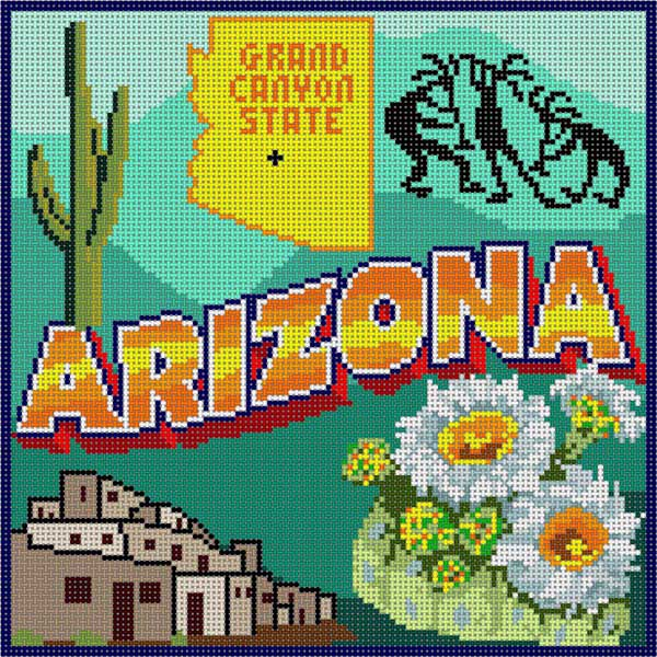 click here to view larger image of Arizona (hand painted canvases)