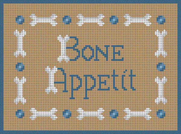click here to view larger image of Bone Appetit (hand painted canvases)