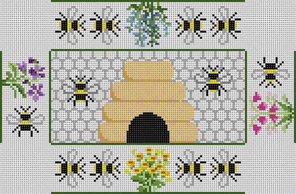click here to view larger image of Beehive Brick Cover (hand painted canvases)