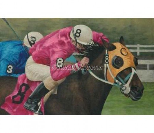click here to view larger image of Horse Race - 13ct (hand painted canvases)