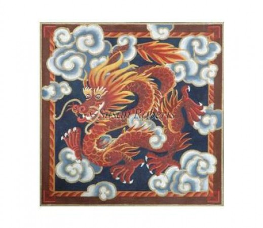 click here to view larger image of Chinese Red Dragon - 18ct (hand painted canvases)