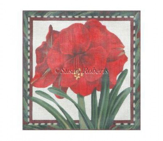 click here to view larger image of Amaryllis - 10ct (hand painted canvases)