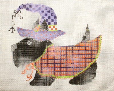 click here to view larger image of Halloween Scottie (hand painted canvases)