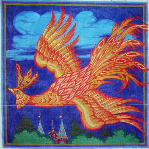click here to view larger image of Russian Firebird (hand painted canvases)