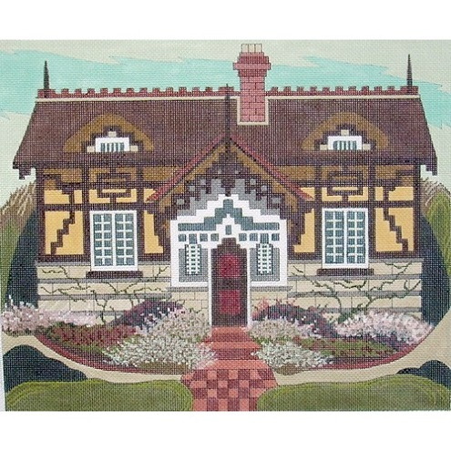 click here to view larger image of Thatched Cottage (hand painted canvases)