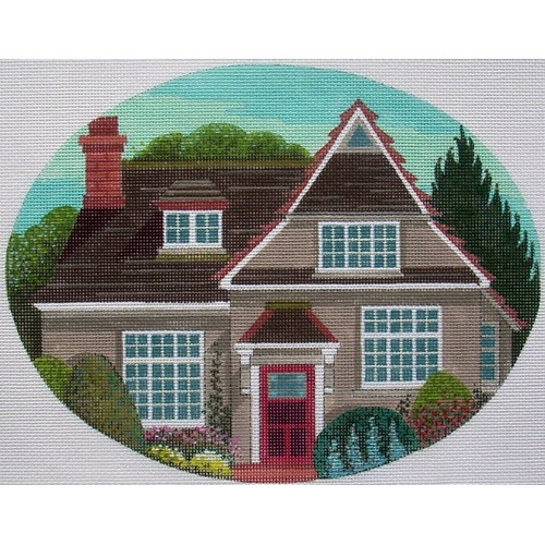 click here to view larger image of Cottage Garden (hand painted canvases)