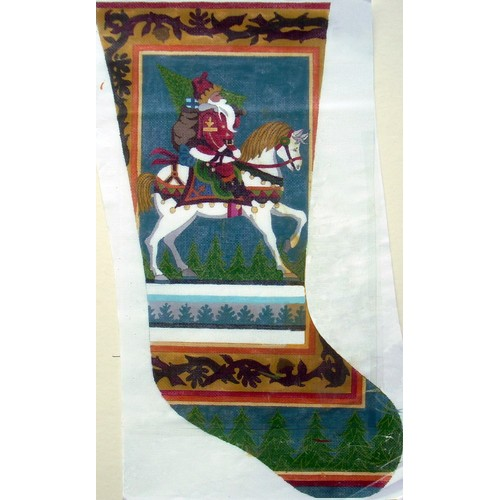 click here to view larger image of Equestrian Stocking  (hand painted canvases)