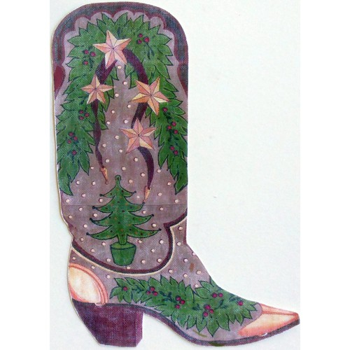 click here to view larger image of Suede Boot - 13ct (hand painted canvases)