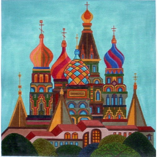 click here to view larger image of Saint Basils - Old Moscow (hand painted canvases)